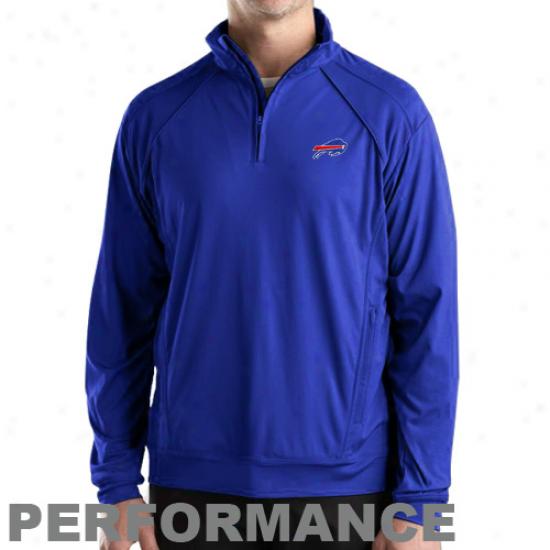 Cutter & Buck Bfjfalo Bills Royal Blue Burleigh Quarter Zip Performance Jacket