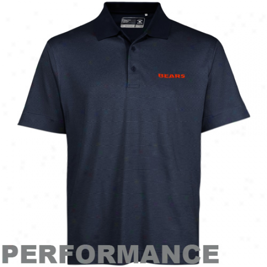 Cutter & Buck Chicago Bears Navy Blue Resolute Performance Polo