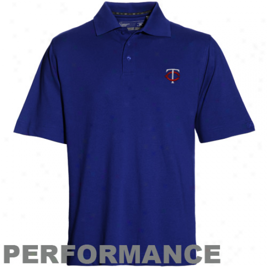 Cutted & Buck Minnseota Twins Navy Blue Championship Performance Polo