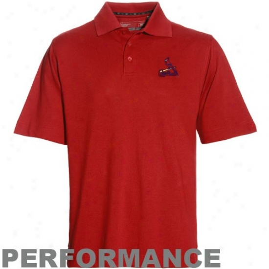 Cutter & Buck St. Louis Cardinals Red Drytec Championship Performance Polo