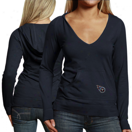 Cutt3r & Buck Tennessee Titans Ladies Social Hooded Annual rate  Long Sleeve T-shirt - Navy Blue