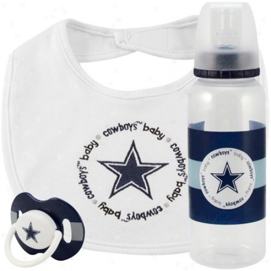 Dallas Cowboys 3-piece Pacifief, Bib & Bottle Gift Set