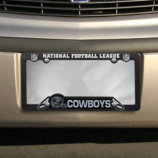 Dallas Cowboy sBlack Plastic License Plate Frame -