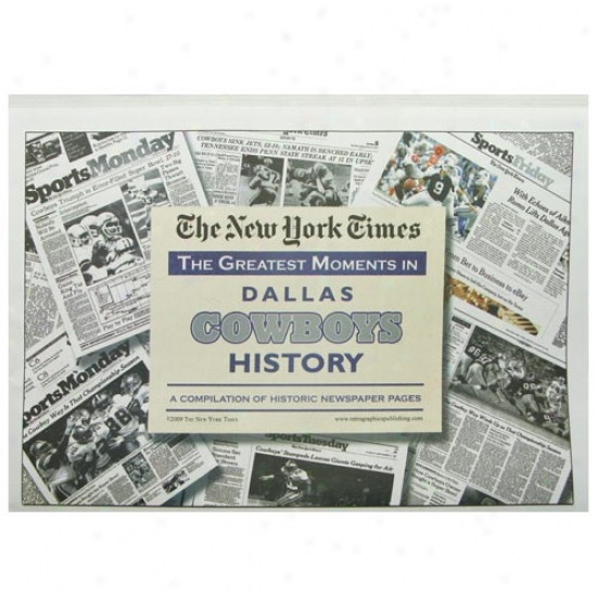 Dallas Cowboys Greatesy Moments Newspaper