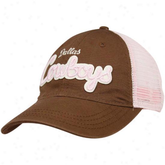 Dallas Cowboys Ladies Brown-pink Pedernales Falls Adjustable Hat