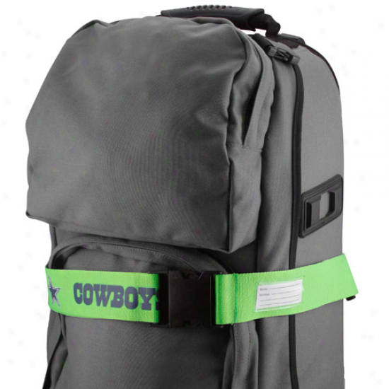 Dallas Cowboys Neon Green Adjustable Luggage Strap