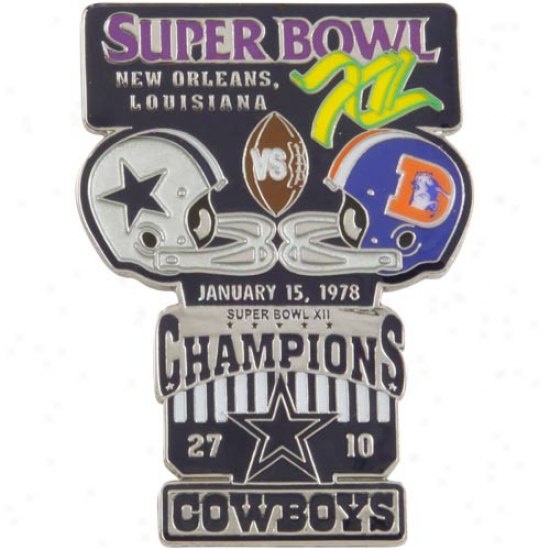 Dallas Cowboys Super Bowl Xii Collectors Pin