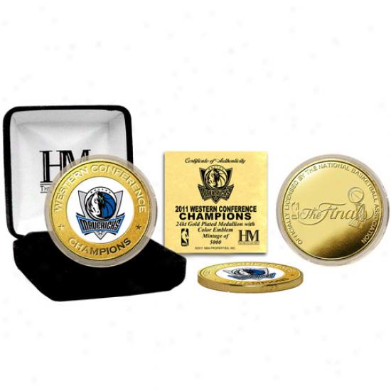 Dallas Mavericks 2011 Nba Western Conference Champions Commemorative Gold Coin