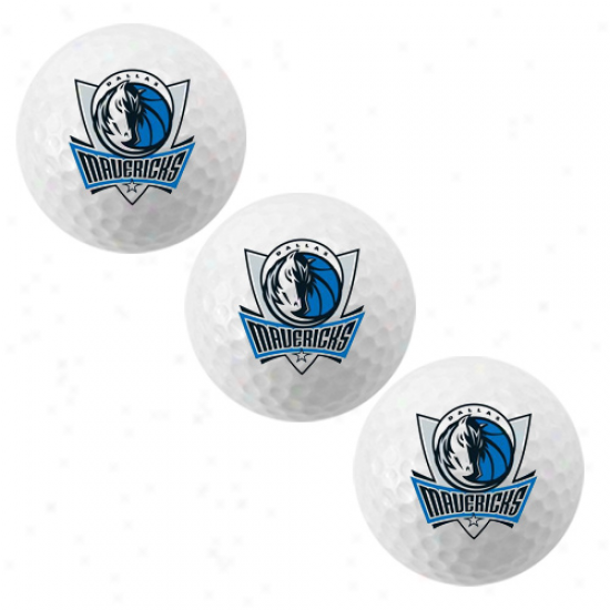 Dallas Mavericks 3-pack Team Logo Golf Balls