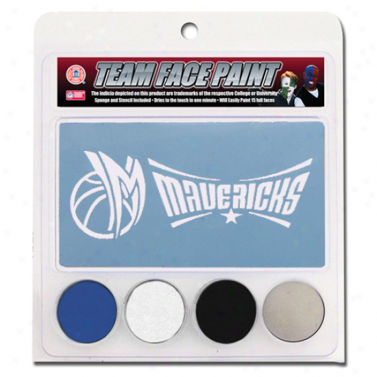 Dallas Mavericks Face Paint Attending Stencils