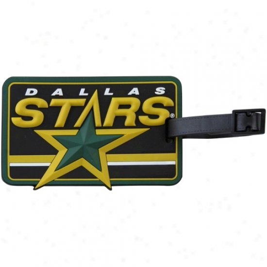 Dallas Stars Embossed Logo Rubber Luggage Tag