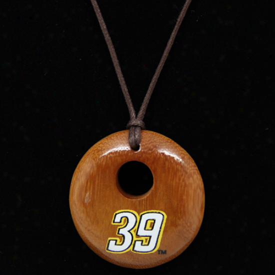 Dayna Pro Ryan Newman Ladies Round Wooden Necklace