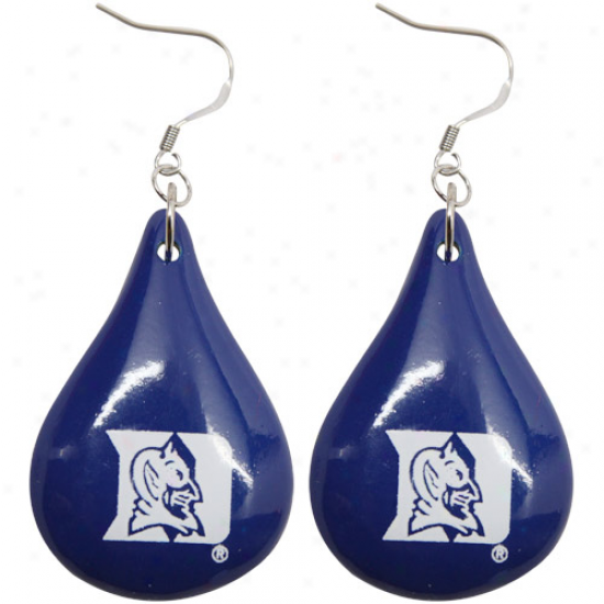 Dayna U Duke Livid Devils Duke Blue Sever Drop Wooden Earrings