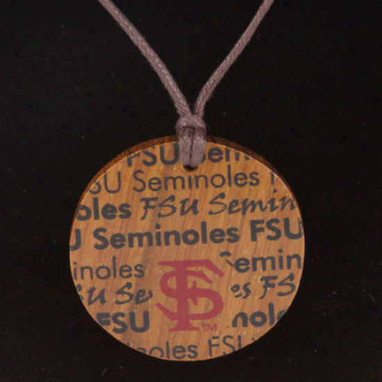 Dayna U Florida State Seminoles (fsu) Ladies Infiity Wooden Necklace