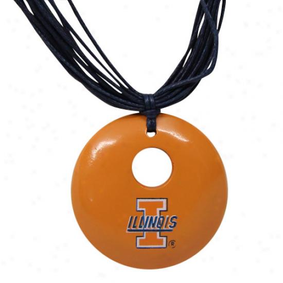 Dayna U Illinois Fighting Illini Ladies Orange-black Multi-strand Team Color Necklace