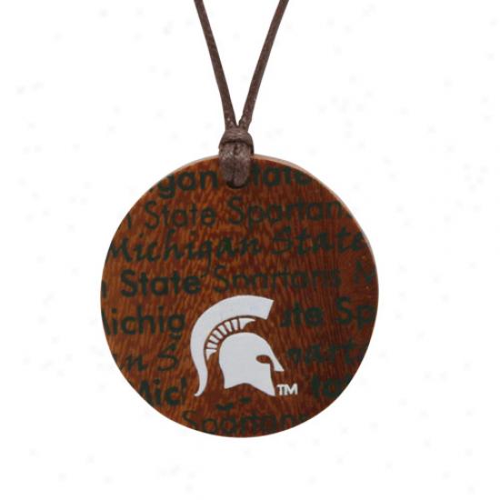 Dayna U Michigan State Spartans Ladids Infinity Awkward Necklace
