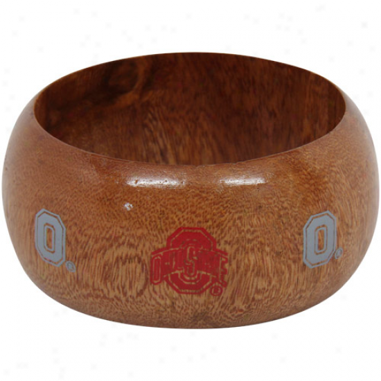 Dayna U Ohio State Buckeyes Ladies Wooden Bangle Bracelet