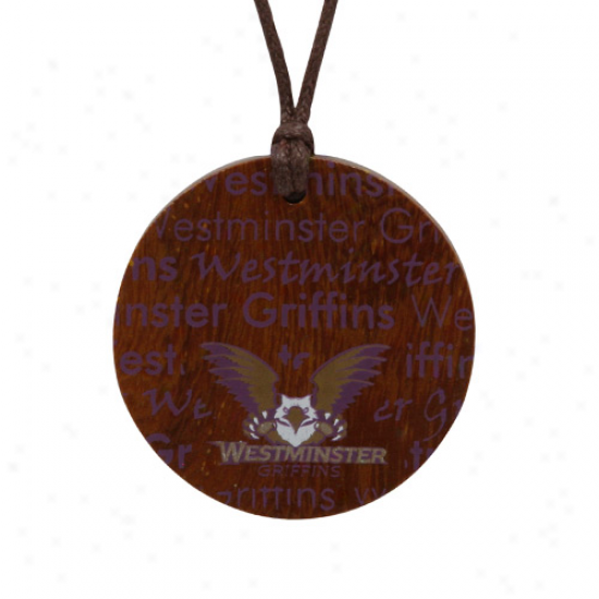 Dayna U Westminster Griffins Ladies Infinity Wooden Necklacee
