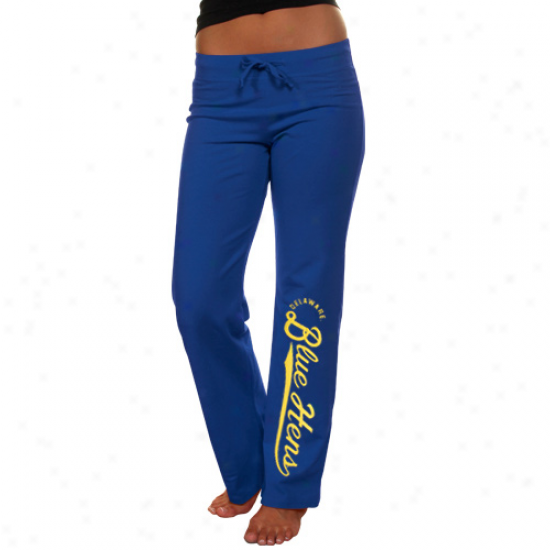 Delaware Fightin' Blue Henx Ladies Royal Blue Sweeper Lounge Pants