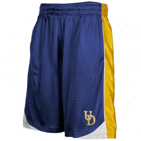 Delaware Figytin' Blue Hens Royal Blie Vector Workout Shorts