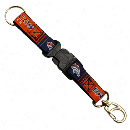 Denver Broncos 2-piece Detachable Swivel Keychain