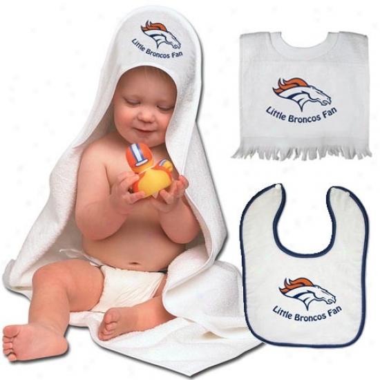 Denver Broncos Hooded Towel & Bib Set