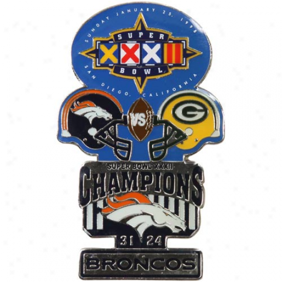 Denver Broncos Super Bowl Xxxii Collectors Pin