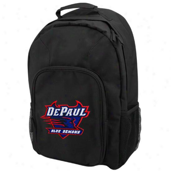 Depaul Blue Demons Black Domestic Backpack