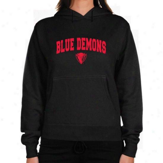 Depaul Blue Demons Ladies Charrcoal Logo Arch Lightweight Hoody