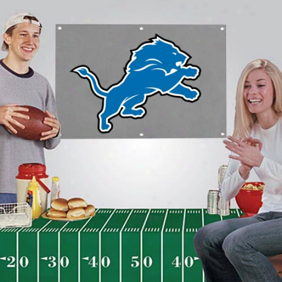 Detroit Lions Banner & Tablecloth 2-piece Football Party Kit