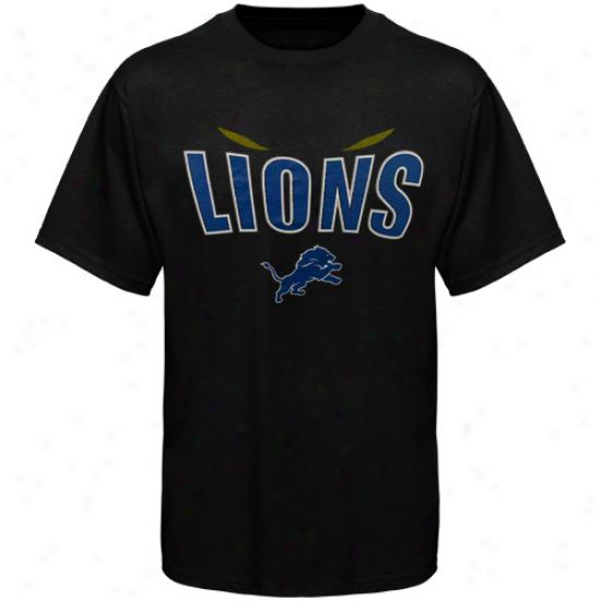 Detroit Lions Inside Line T-shirt - Black