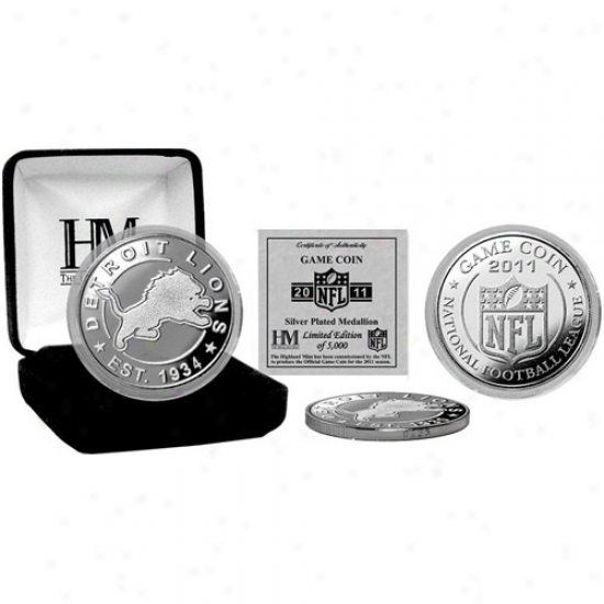 Detroit Lions Silver 2011 Game Coin