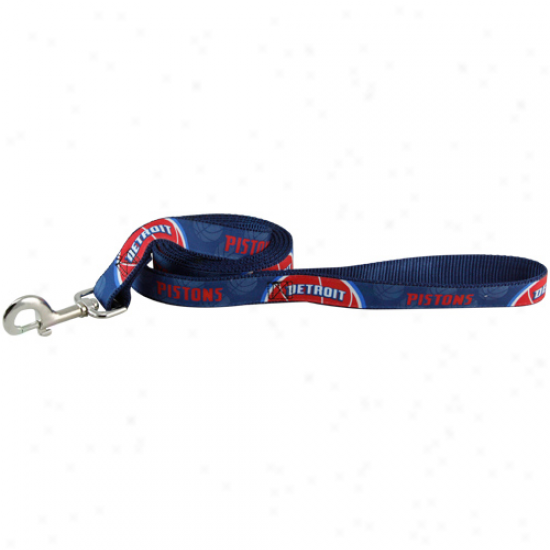 Detroit Pistons 6' Navy Blue-red Dog Leash