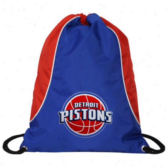 Detroit Pistons Royal Blue-red Axis Drawstring Backpack