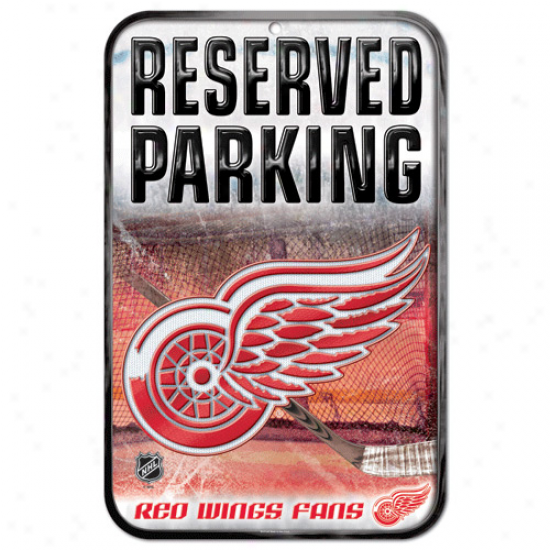 Detroit Red Wings 11'' X 17'' Reserved Parking Sign