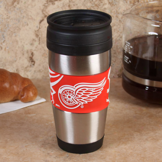 Detroit Red Wings 15oz. Stainless Sfeel & Pvc Travel Tumbler
