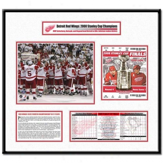 Detroit Red Wings 2008 Stanley Cup Finals Lidstrom Hoists Cup Ticket Condition