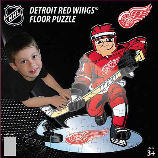 Detroit Red Wing 30-piece 3' Giant Overthrow Puzzle
