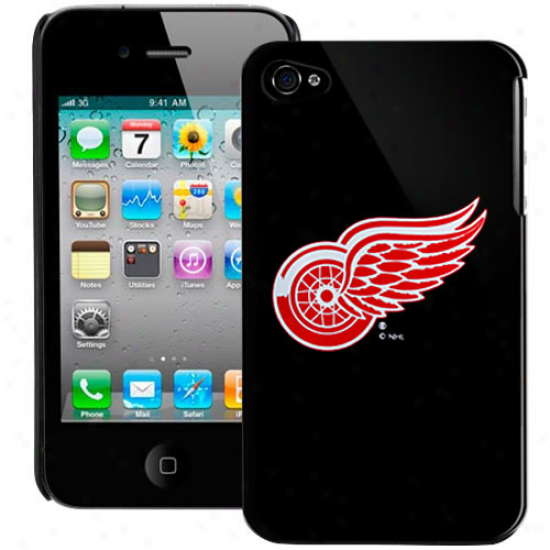 Detroit Red Wings Black Iphone 4 Case