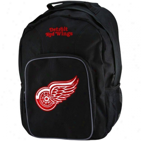 Detroit Red Wings Youth Black Southpaw Backpack