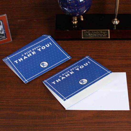 Duke Blue Devils 10-pack Duke Blue Polka Dot Thank You Card & Envelope Set