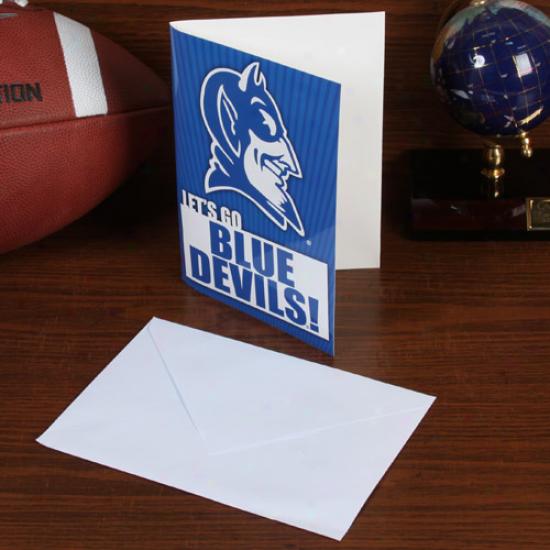 Duke Blue Devvilw 5'' X 7'' Musical Card