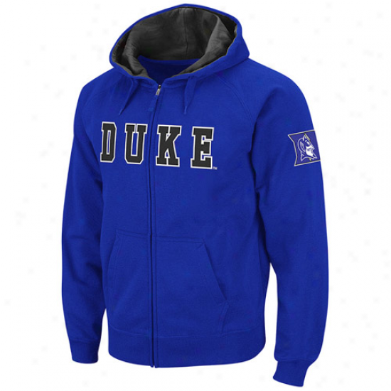 Duke Blue Devils Duke Blue Classic Twill Ii Full Zip Hoodie Sweatshirt