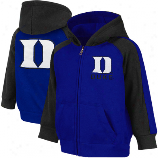 Duke Blue Devils Toddler Snap Full Zip Hoodie - Duke Blue-black