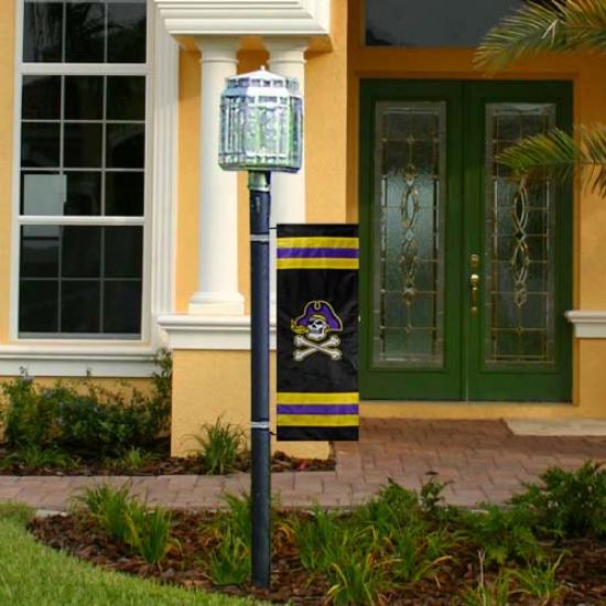 """east Carolina Pirates 32"""" X 10.5"""" Applique Post Banner"""