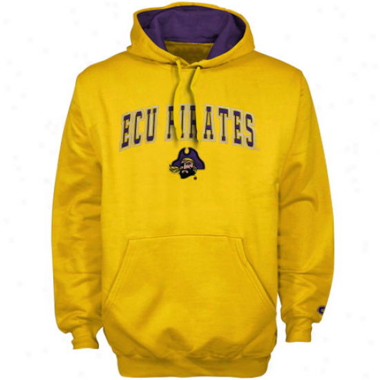 East Carolina Pirates Gold Automatic Pullover Hoody Sweatshirt