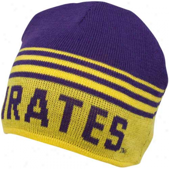 East Carolina Pirates Gold-purple Rush Reversible Beanie
