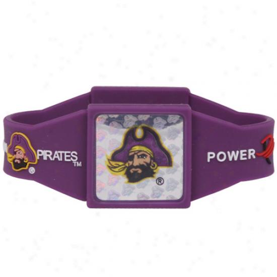 East Carolina Pirates Purple Power Force Silicone Wristband