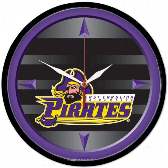 East Carolina Pirates Rotation Wall Clock