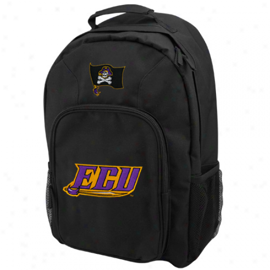 East Carolina Piraates Youth Black Southpaw Backpack